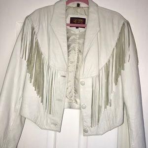 Jackets & Blazers - Fringe Leather Jacket